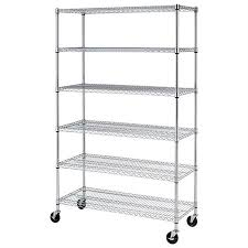 costco metal shelving.  Metal Awesome Costco Steel Shelving 6 Shelf Commercial Wire  Rack W Casters 500lbs Inside Metal A