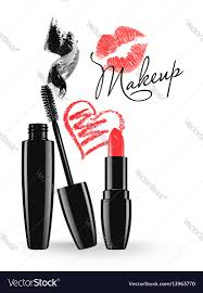 Design Makeup Products Cosmetic Products Design Mascara And Lipstick