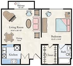 Nice One Bedroom Apartments With Floor Plans Is Like Interior Designs  Property Exterior Design One Bedroom