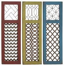 wood metal wall panels 3 piece set