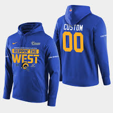 Rams Pullover Royal Division - West Champions Nfc Custom 2018 Hoodie