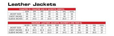 Magnum Size Chart Clothes Stores Leather Jacket Size Chart