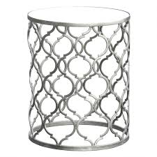 silver metal round side table round silver side table uk coffee