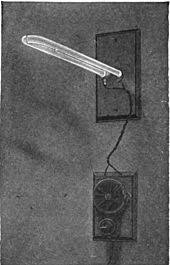 fluorescent lamp one of the first mercury vapor lamps invented by peter cooper hewitt 1903 it was similar to a fluorescent lamp out the fluorescent coating on the tube