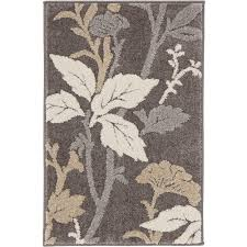 home decorators collection blooming flowers gray 2 ft x 3 ft ter rug