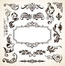 Frame Border Pattern Flowers Vector Vintage Ornamental Design Corner  Elements Download PNG Instant Transparent Background Clipart