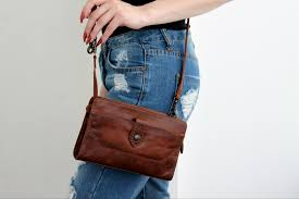 frye brown small leather handbag cross best