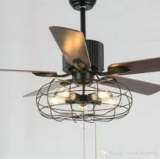 loft vintage ceiling fan light 5 bulbs pendant lamps fans in wooden blades included from and