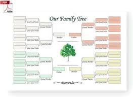 Printable Family Tree Template Business Card Website Printable