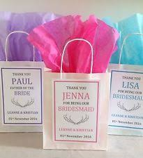 personalised vine white paper favour bags gift wedding hen christening party