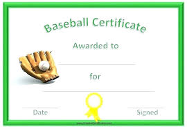 Free Printable Softball Certificates Certificate Softball 1 Templates For Word Free Contactory Co