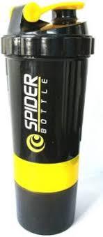 Spider Protein <b>shaker bottle</b>, 550 ml,<b>Leak proof</b>, storage container ...