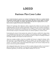 Business Plan Cover Letter Example The Letter Sample