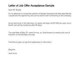 Offer Letter Acceptance Mail Format Sample Job Offer Acceptance Letter Email Faxnet1 Org