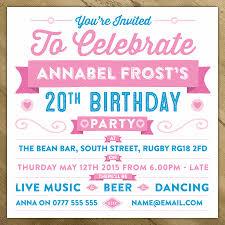 Personalised Celebration Birthday Party Invite