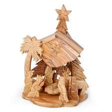 olive wood nativity set box home decor my jerum
