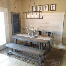 This picnic style kitchen table is perfect for a farmhouse look!