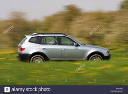 Car, BMW X3 3.0i, cross country vehicle, model year 2005-, silver ...