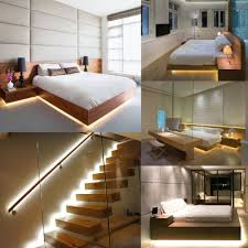 lighting bed. Under Bed Motion Sensor Dimmable Lighting, Warm White LED Strip With Automatic Shut Off Timer, Cabinets/Under Stairs/Bedroom-in Night Lights From Lighting