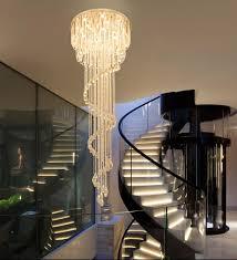 Großhandel Treppenhaus Kronleuchter Duplex Gebäude Rotierende Villa Duplex Wohnzimmer Gebäude Treppenhaus Licht Lange Moderne Einfache Kristall