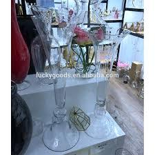 Big Flower Vase Design Lhp075 Elegant Big Flower Arrangement Vase Wedding Decoration Flower Vase Buy Wedding Decoration Flower Vase Large Flower Vases Tall Glass Vase For