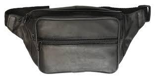 new black leather pack mens waist belt bag womens purse hip pouch travel