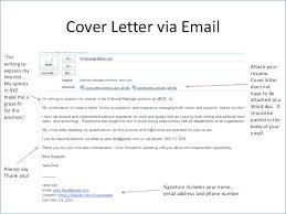 Sample Email For Sending Resume Resume Letter Via Email Sending