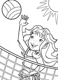 Volleyball Color Pages Sport Volleyball Coloring Pages For Girls Sports Theme Pinterest