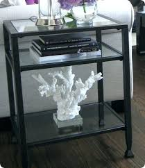 metal and glass side table tanner round coffee matte iron bronze finish small meta