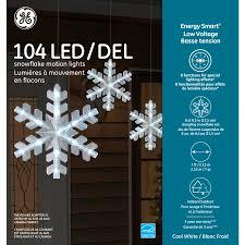 104 Led Snowflake Motion Lights 88820 Ge Energy Smart Low Voltage Led Snowflake Motion