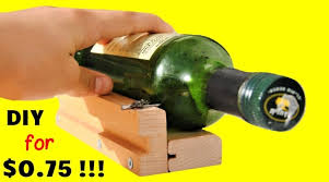 how to cut a glass bottle without a