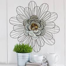 stratton home decor galvanized metal daisy wall decor