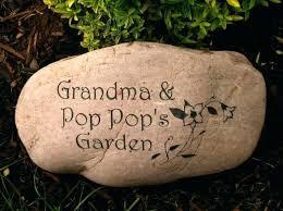 personalized garden rocks large