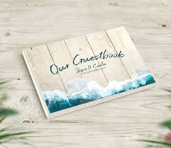 Wedding Guest Book Beach Themed Wedding Guestbook
