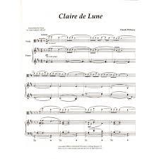 clair de lune sheet music guitar debussy claude clair de lune for viola viola world publication