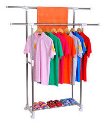 Double Pole Cloth Hanger Dryer stand ,Laundry rack,drying,Dress Display  Stand