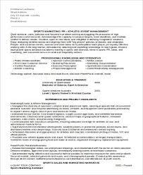 sports marketing assistant resume sample marketing assistant resume