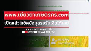 ถึงคิว เกษตรกร เช็คได้เลย หลังเปิด www.เยียวยาเกษตรกร.com ให้ตรวจสอบสิทธิ  รับเงิน เยียวยา 5 พัน - YouTube