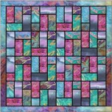 Best 25+ Batik quilts ideas on Pinterest | Stained glass quilt ... & Batik stained glass quilt pattern and tutorial from Ludlow Quilt and Sew Adamdwight.com