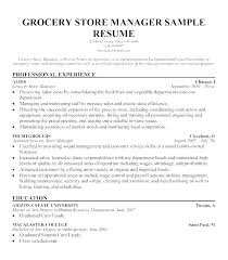Sample Resume Of Store Manager Store Manager Resume Template Emmaplays Co