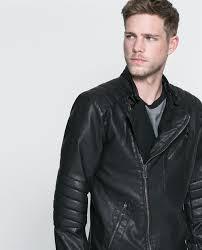 faux leather biker jacket 79 99 zara com