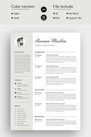Jhon Markin Modern Resume Template 75536