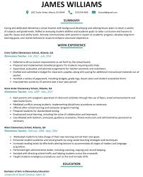 Sample Teacher Resume With Experience Elementary Teacher Resume Sample Resumelift With Assistant 60 24