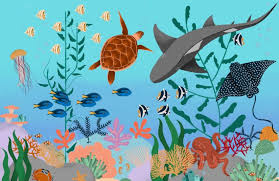 Kids 'Under The Sea' Wallpaper Mural | Murals Wallpaper