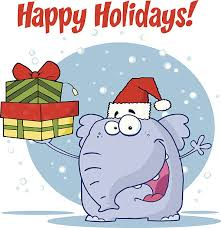 white elephant gift clip art. Exellent Elephant Christmas Elephant Holds Up Gifts With Text Vector Art Illustration White Gift Clip Art