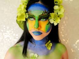 earth inspired face paint