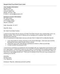 cover letter for front desk