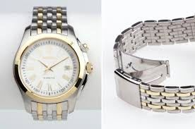 seiko men s watches 119 for men s kinetic watch gold and silver stainless steel ka470p1 475 list price