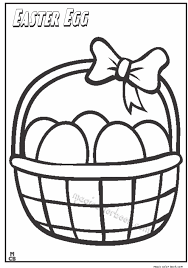 Easter Basket Coloring Pages 5 Online Kids Printables For Within