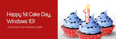 Happy 1st Cake Day Windows 10